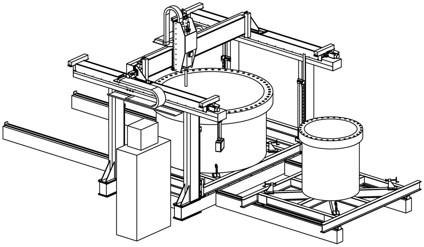 Flange machining